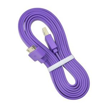 KLOUD ® Purple Widest (TM) Flat 6FT feet USB Data / Sync Cable for Apple iPhone 4 4S 3GS iPod Touch New iPad plus KLOUD cleaning cloth
