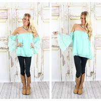 Flare Me with Lace Top mint - Modern Vintage Boutique
