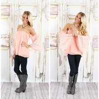 Flare Me with Lace Top Peach - Modern Vintage Boutique