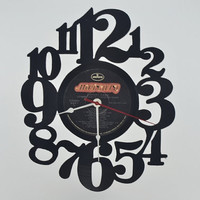 Vinyl Record Album Wall Clock (artist is Johnny Cash)