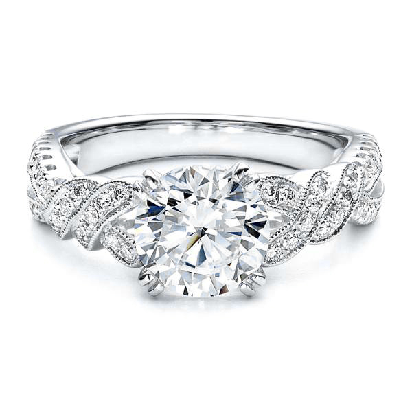 engagement ring braided engagement ring from mdc diamonds