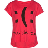 FULL TILT You Decide Girls Hi Low Tee