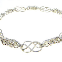 Celtic and Byzantine Bracelet in Sterling Silver