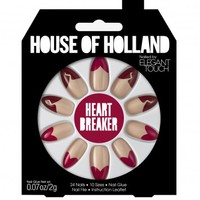 Missguided - House Of Holland Nails By Elegant Touch - Heartbreaker