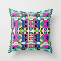 Mix #526 Throw Pillow by Ornaart