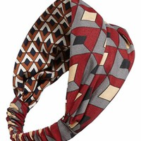 Cara 'Geo Diamond' Reversible Head Wrap | Nordstrom