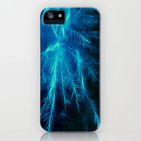 Feather blue iPhone & iPod Case by Ally Coxon