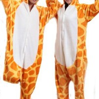 Unisex Pajamas Cosplay Cartoon Animal giraffe Costume Pyjamas Onesuits