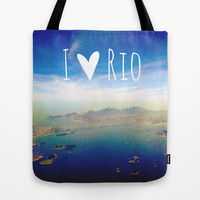 I love Rio Tote Bag by Louise Machado