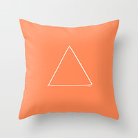 Fire Bright - Minimalist Feng Shui - by Friztin Throw Pillow by friztin