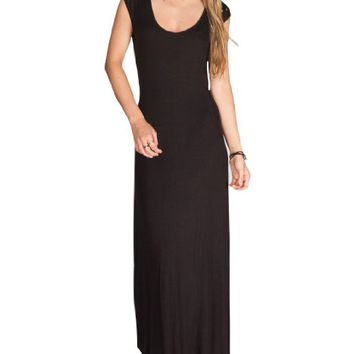 Full Tilt Women's Studded Open Back Maxi Dress