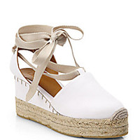 Ralph Lauren Collection - Uma Tie-Up Canvas Espadrille Sandals - Saks Fifth Avenue Mobile