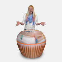 Cupcake Printed Adult-Size Beanbag Chairs