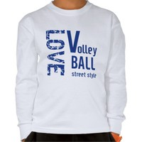 Zazzle Unisex Love Volleyball Kids Tee
