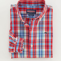 Boys Fog Cove Plaid Whale Shirt