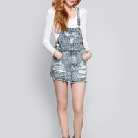 SHREDDED OVERALL DRESS