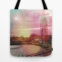 Seeing Another World - ReMix Tote Bag by Suzanne Kurilla