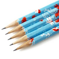Handmade Gifts | Independent Design | Vintage Goods Deluxe Washi Pencil Set - Koi Fish - i love her!