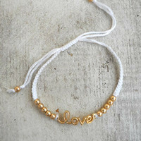 Sweet Love Bracelet [4387] - $7.20 : Vintage Inspired Clothing & Affordable Dresses, deloom | Modern. Vintage. Crafted.