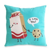 Threadless Cookies and Milk Toss Pillow