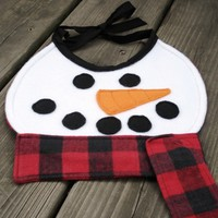 Frosty the Snowbaby Bib by Stitch