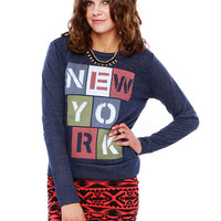 NEW YORK GRAPHIC TOP