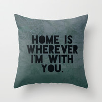 With You II Throw Pillow by Leah Flores