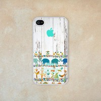 D&fcase® Africa on Wood Pattern and Rubber Iphone 4, Iphone 4s Case - Personalized, Friendship Bestfriend Gift Fits Iphone 4 4s T-mobile, At&t, Sprint, Verizon and All International Carriers