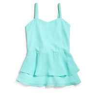 Girl's Chiffon Peplum Tank Top