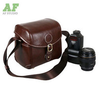 New Vintage PU Faux Leather Shoulder Bags Camera DSLR SLR Message Bag Cases