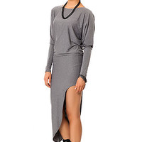 The Angled Dress in Charcoal