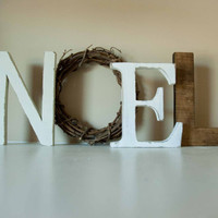 Noel Letters, Christmas Decor, Mantle Decor, Christmas Gift, Noel Sign