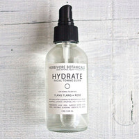 Hydrate Facial Toner. Rose Water. Ylang Ylang. Sensitive to Normal Skin Types. 100% Natural. 4 oz.