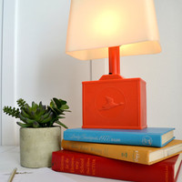 Vintage Coral Goose Night Light Table Lamp