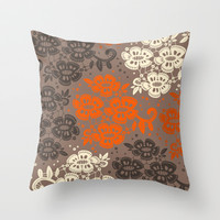 Floral Pattern #3 Throw Pillow by Ornaart