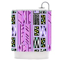 KESS InHouse American Blanket Pattern II Polyester Shower Curtain