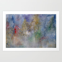 christmas lights Art Print by rysunki-malunki