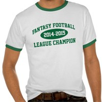 Awesome 'Fantasy Football League Champion' T-Shirt