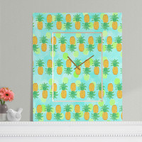 Lisa Argyropoulos Pineapples And Polka Dots Rectangular Clock