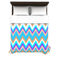 "Nika Martinez ""Girly Surf Chevron"" Duvet Cover"
