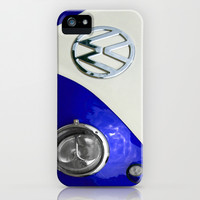 VW Split Screen Navy iPhone & iPod Case by Alice Gosling