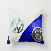 VW Split Screen Navy Throw Pillow by Alice Gosling
