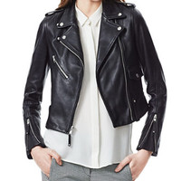 THEORY Adashi Jacket in Lindridge Leather