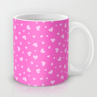 Hearts Pattern #7 - Pink Mug by Ornaart