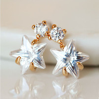 Tangling Star Rhinestone Earrings