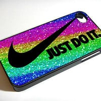 Case iphone 4 and 5 for nike just do it sparkle