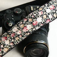 Flowers Camera Strap. dSLR Camera Strap. Canon Camera Strap. Women Accessories.
