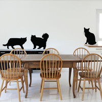 Cat Wall Decal Art Sticker Decor kitchen Dining Room Wall Decals