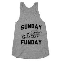 Sunday Funday Racerback, girly, zombies, horror, gore, shirts, clothing, tops, tanks, racerbacks, fun, womens