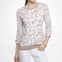 REVERSIBLE LEOPARD JACQUARD SWEATER